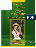 Plan  de Seguridad de Agua Para Tarija