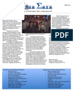 AEPi Fall Newsletter 2012