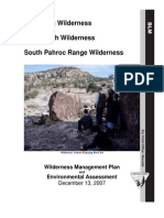 BLM Wilderness Management Plan — Big Rocks, Mount Irish and South Pahroc wildernesses
