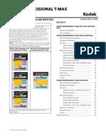Kodak Tmax Data Sheet