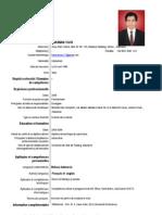Contoh CV Dalam Bahasa Perancis
