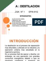 Diapositiva de Destilaciôn 2003