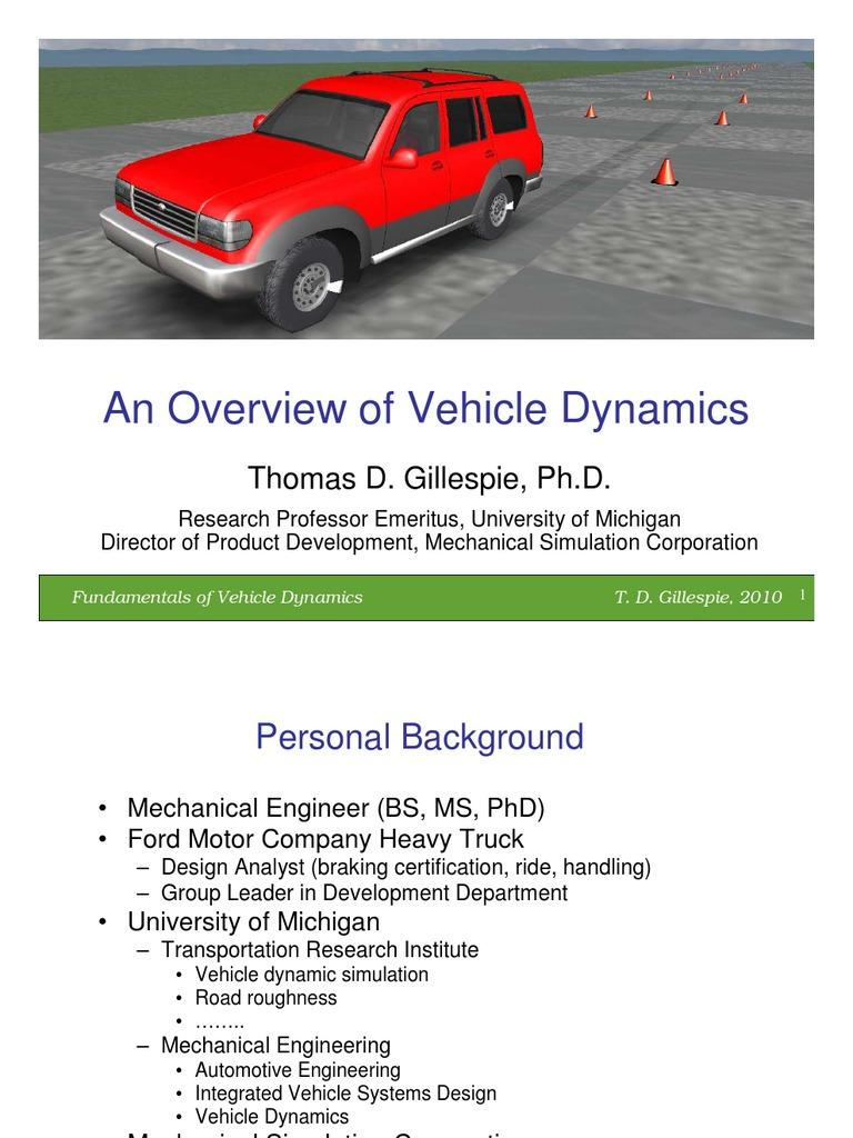 Dynamics | Suspension (Vehicle) | Steering