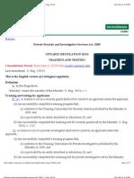 PSISA Training Legislation