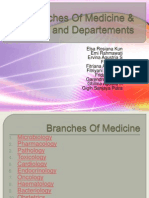 Branches of Medicine & Wards and Departements - Editku