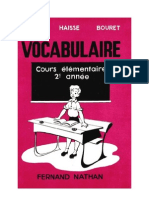 Langue Française Vocabulaire CE2 David Haisse Bouret 1954