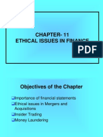 Ethical Issues in Finace