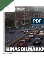 """""""Kinas bilmarknad tvärnitar"""", för Affärsvärlden"""