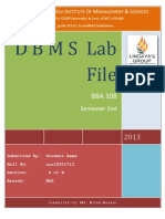 Dbms Lab Questions