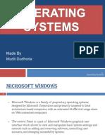 Microsoft Windows Powerpoint Project BBA RU Computer Project