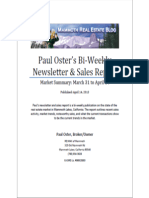 Paul Oster's Mammoth Lakes Real Estate Report April 14 2013