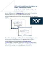 New Allinea DDT 4.0 Release Brings Software Development for Remote HPC Systems Closer to Home