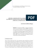 Guillermo Bringas Luis Gustavo-Autoría y participación en la jurisprudencia del TConst