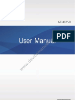 Samsung Ativ S GT-I8750 user manual guide