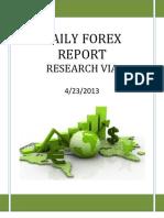 Forex Report 23 April 2013