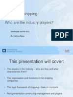Key Players in Shipping