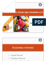 Flavor Division (Oman Agro Industries LLC)
