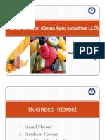 Flavor Division (Oman Agro Industries LLC)