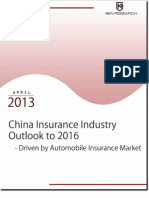 China Insurance Market Outlook to 2016 - Driven By Automobile Insurance Market