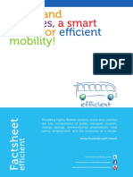 Buses and coaches for efficient transport