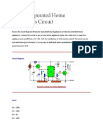 Remote Operated Home Appliances Circuit