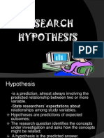 Characteristics of Testable Hypotheses