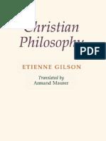 Etienne Gilson - Christian Philosophy