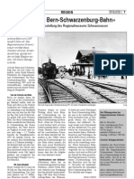«100 Jahre Bern-Schwarzenburg-Bahn»