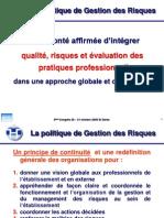 Integrer Qualite Risques Et Evaluation Des Pratiques Professionnelles