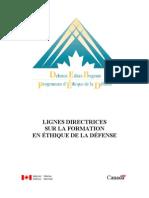 Linii Directoare Asupra Formarii in Domeniul Eticii_Canada