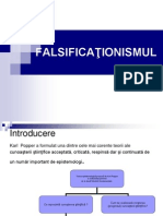 Falsificationismul  Curs 9