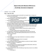 70-646 Windows Server 2008 Administrator Knowledge Assessment Chapter 9