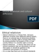Ethical Relativism and Cultural Difference