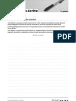 Delf Pro b2 Production Ecrite Exercice