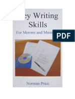 Key Writing Skills for Morons & Managers (sample)