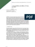 Classification Overconsolidation & Stiffness of Venice Lagoon Soils From CPTU