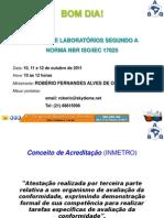 Curso Cbq 2011 - Nbr 17025
