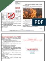 Măsuri de apărare împotriva incendiilor la camparea în zonele împadurite