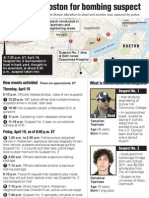 Timeline and map of Boston manhunt