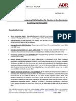 Asset Comparison of Recontesting MLAs 2013