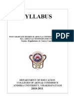 Adult Education Syllabus
