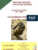 la sculpture romane expliquée aux enfants Tour du Moulin 24 avril 2013