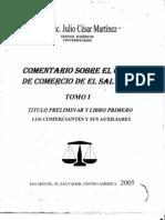 Comentario Sobre El Codigo de Comercio de El Salvador - Tomo i