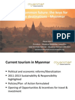 World Tourism Forum Lucerne 2013_Creating a Common Future_the Keys for Sustainable Destinations - Myanmar