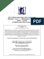 Mustang Girls Summer Soccer Camp 2013