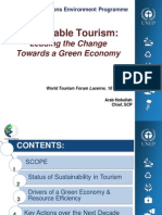World Tourism Forum Lucerne 2013_Sustainable Tourism_Leading the Change Towards a Green Economy