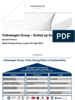 World Tourism Forum Lucerne 2013_Volkswagen Group - Scaled Up Sustainability