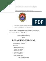 Informe de Rocas Sedimentarias