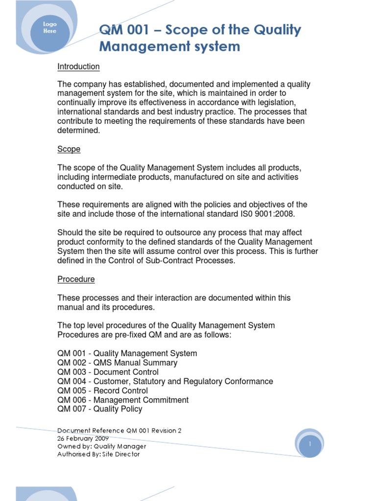 Famous Qms Template Ideas Documentation it service agreement ...