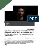 3D Text Face